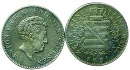 ZEHN EINE FEINE MARK ANTON KOENIG VON SACHSEN 1831 - Germania