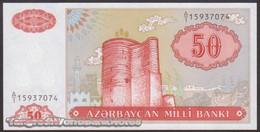 TWN - AZERBAIJAN 17a - 50 Manat 1993 Prefix A/1 UNC - Azerbaigian