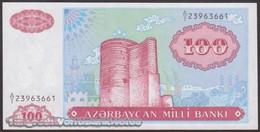 TWN - AZERBAIJAN 18a - 100 Manat 1993 Prefix A/1 UNC - Azerbaigian