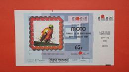 "Thème Moto, Billet De ""  Loterie Nationale  61 ème TR  1981 Moto, VMNTC ""  N° 000 000 - Motorräder"