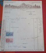 Facture 30 Mai 1950 Distillerie VANOT Liqueur Du Mont-Dore RIOM (Puy De DÔME) - Food