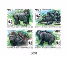 Centrafrica 2015, WWF, Gorillas, 4val In BF De Luxe - W.W.F.