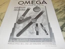 ANCIENNE PUBLICITE MONTRE OMEGA 1933 - Bijoux & Horlogerie