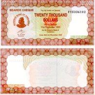 Z_MB_WE 20.000  Dollars 2003/2005 Bearer Cheque *UNC* - Zimbabwe