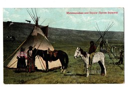 CANADA . MUTSINAMAKAN AND SQUAW  (SARCEE SQUAWS) . INDIEN - Réf. N°3412 - - Canada