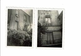 3 Photographies Photo PARIS Passage Gambetta Maison Passage Gambetta 1954 - Lieux
