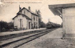 """V10850 Cpa 23 Parsac - La Gare, Passage Du Bordeaux Turin """" Train"""" - France"""