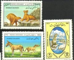 AFGHANISTAN: FAUNA,LOIN,DONKEY,MARMOT,1982,MNH,1020-22 - Afghanistan