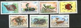 AFGHANISTAN: REPTILES, SNAKE, LIZARD, SCORPION, BEETLES, 1986, MNH, 1217-23 - Afghanistan