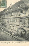 A-17.6808 : WEISSENBURG I. E.   ALTES HAUS 1598. WOLLENGASSE. 74/75 - Weissenburg