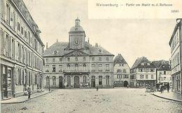 A-17.6823 : WEISSENBURG I. E.   PARTIE AM MARKT M.D. RATHAUSE - Weissenburg
