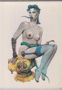 CPM 10X15 . Illust.BILAL . 1983. Fille à Langue Verte ( Erotisme : Nu. Jeune Femme Nue En  Porte-jarretelles) - Andere Illustrators