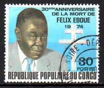 CONGO. N°366 Oblitéré De 1975. Félix Eboué. - Congo - Brazzaville