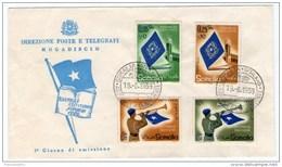 SOMALIA AFIS - FDC ASSEMBLEA COSTITUENTE 1959 - Somalia (AFIS)