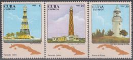 CUBA 1982, MARINE LIGHTHOUSES, COMPLETE MNH SET, GOOD QUALITY, *** - Cuba