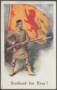 Scotland For Ever!, C.1915 - E Mack Postcard - Regiments