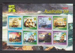 Papua New Guinea 1999,8V In Sheetlet,australia 99,ships,schepen,schiffe,navires,naves,boot,boat, MNH/Postfris(L3115) - Schiffe