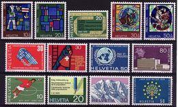 CH  142 - SUISSE 13 Timbres Entre N°850 Et 867 Neufs** à La Faciale - Switzerland