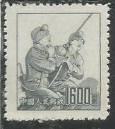 CHINA CINA 1953 COAL MINERS 1600$ NG - 1949 - ... People's Republic