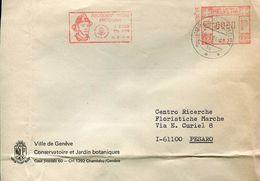 23103 Switzerland, Red Meter/freistempel/ema/ 1984 Chambesy, Secourez Votre Prochain, Sapeur Pompiers - Postage Meters
