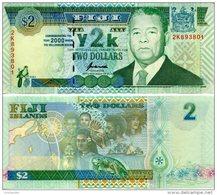 FIJI 2 Dollars Y2K (2000) P-102a **UNC** - Fidji