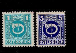 Österreich 721 - 737 Posthorn ** Postfrisch MNH - 1945-.... 2ème République