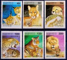 A5158 BENIN 1995, SG 1333-8  Big Cats And Their Young,  MNH - Benin - Dahomey (1960-...)