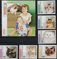 B0391 BENIN 1995, SG 1298-MS1304 Cats, MNH - Benin - Dahomey (1960-...)