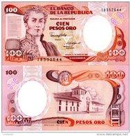 COLOMBIA 100 Pesos Oro P-426b 1.1.1986 **UNC** - Colombia