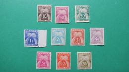 Taxe, Type Gerbes, France Chiffre-taxe  N°67 à 76 Neuf* Sauf  N° 71 - Taxes