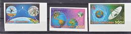 Comores PA 104 106 Satellites De Télécommunications Non Dentelés  Neuf **TB  Mnh - Comoren (1975-...)