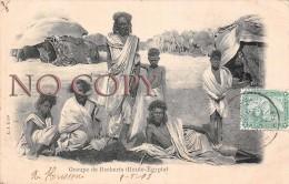 Egypte Egypt - Groupe De Becharis - 1903 - Egypte