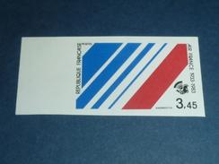TIMBRE DE FRANCE NON DENTELE N°2278a 50° ANNIVERSAIRE DE LA CREATION DE LA COMPAGNIE AIR-FRANCE NEUF SANS CHARNIERE(C.V) - France