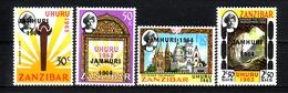 373o * ZANZIBAR * UHURU 1963 MIT ÜBERDRUCK JAMHURI 1964 * POSTFRISCH **!! - Zanzibar (1963-1968)