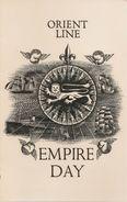 MENU-EMPIRE DAY-24 MAY 1954-CIE ORIENT LINE-PAQUEBOT R.M.S ORSOVA-Ft 11x 18Cm -TBE - Menus