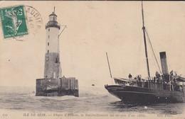 29---ILE DE SEIN--phare D'armen--le Ravitaillement Au Moyen D'un Câble--voir 2 Scans - Ile De Sein