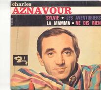 45 TOURS AZNAVOUR BARCLAY 70591 SYLVIE / LES AVENTURIERS / LA MAMMA / NEDIS RIEN - Musicals