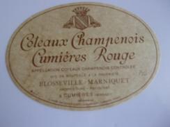 COTEAUX CHAMPENOIS  CUMIERES ROUGE  BLOSSEVILLE MARNIQUET   CUMIERES    ****  RARE    A SAISIR ****** - Champagne
