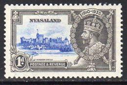 Nyasaland 1935 GV Silver Jubilee 1d Value, MNH, SG 123 (BA2) - Nyasaland (1907-1953)