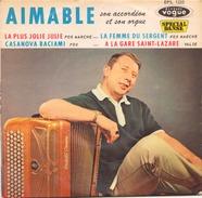 45 TOURS AIMABLE VOGUE EPS 1333 LA PLUS JOLIE JULIE / LAFEMME DU SERGENT / CASANOVA BACIAMI / A LA GARE SAINT LAZARE - Instrumental