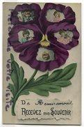 - De Remiremont Recevez Mon Souvenir, Glacée, Fleur, Visages D'Enfants, écrite 1908, TBE, Scans. - Remiremont