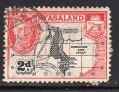 Nyasaland 1945 GVI 2d Map, Used, SG 147 (BA2) - Nyasaland (1907-1953)