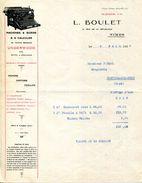 "30.GARD.NIMES.MACHINES A ECRIRE & A CALCULER "" UNDERWOOD "".PAPIERS.CARTONS.L.BOULET 8 RUE DE LA REPUBLIQUE. - Stamperia & Cartoleria"