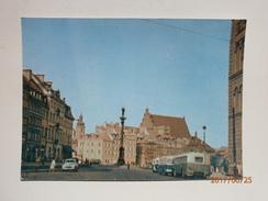 Postcard Warszawa Plac Zamkowy Warsaw Castle Square Poland My Ref B21432 - Poland