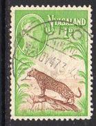 Nyasaland GVI 1947 Leopard, Used, SG 160 (BA2) - Nyasaland (1907-1953)