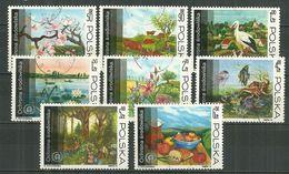 POLAND Oblitéré 2105-2112 Protection De La Nature Cigogne Faune Flore Fleur - 1944-.... République