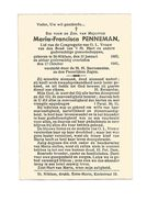 466. Maria-Francisca PENNEMAN - Lid Congr. O.L.Vrouw - ST-NIKLAAS 1883 / 1942 - Imágenes Religiosas