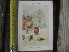 Chromo Decoupi Image Ancienne AU BON MARCHE Noce De Legumes Les Invites 8 Halle - Chromos