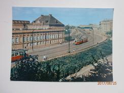 Postcard Warszawa Trasa W - Z  Warsaw East - West Thoroughfare Near The Old Town & Tram Poland My Ref B21434 - Poland