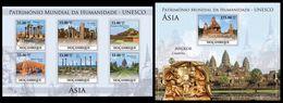 MOZAMBIQUE 2010 - UNESCO Asia 1 - YT 3212-7 + BF293 - Archeologie